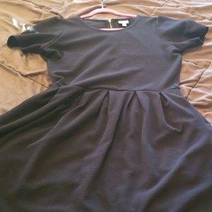 LBD LuLaRoe Amelia black dress with pockets